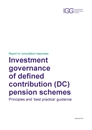 IGG Consultation responsees on investment governance of DC schemes